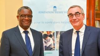 Le Dr Denis Mukwege et Pierre Yves Revol, Président de la Fondation Pierre Fabre