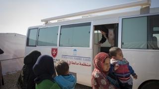 Mise en place d'une unité médicale mobile à la frontière libano-syrienne