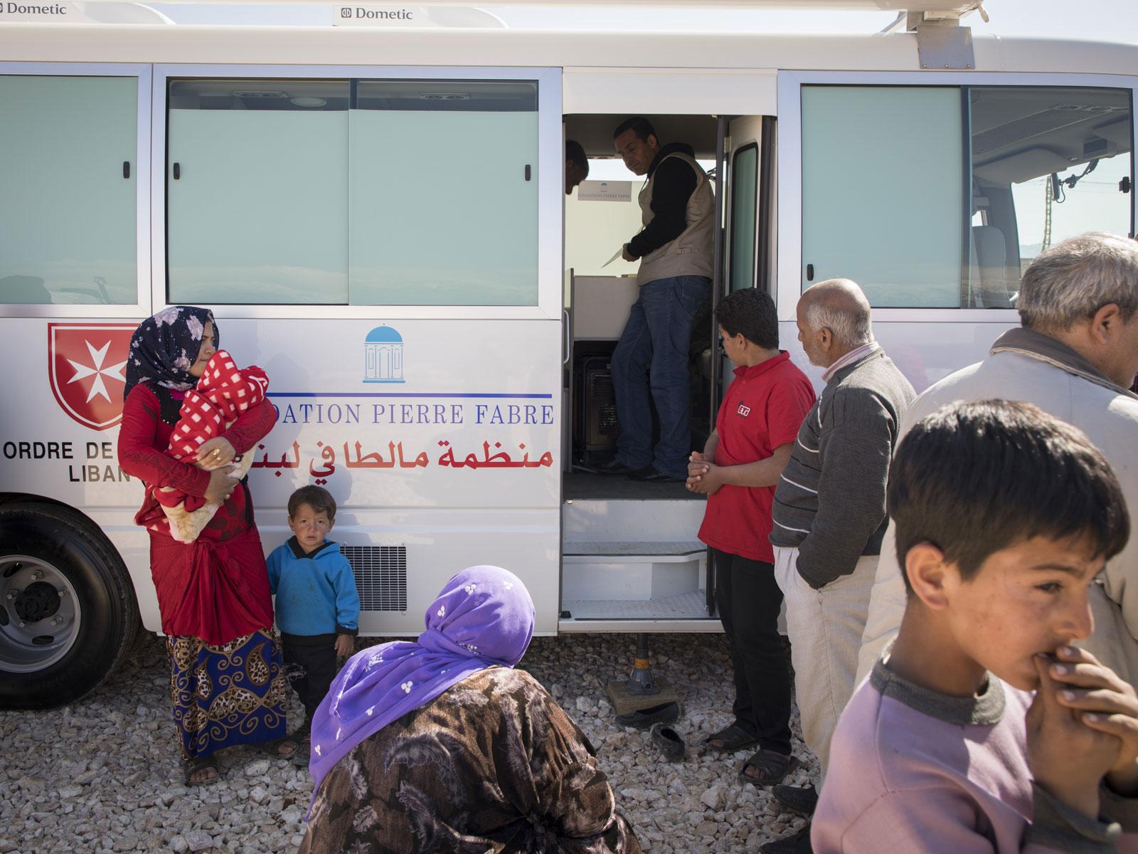 Unité médicale mobile, vallée de la Bekaa, Liban