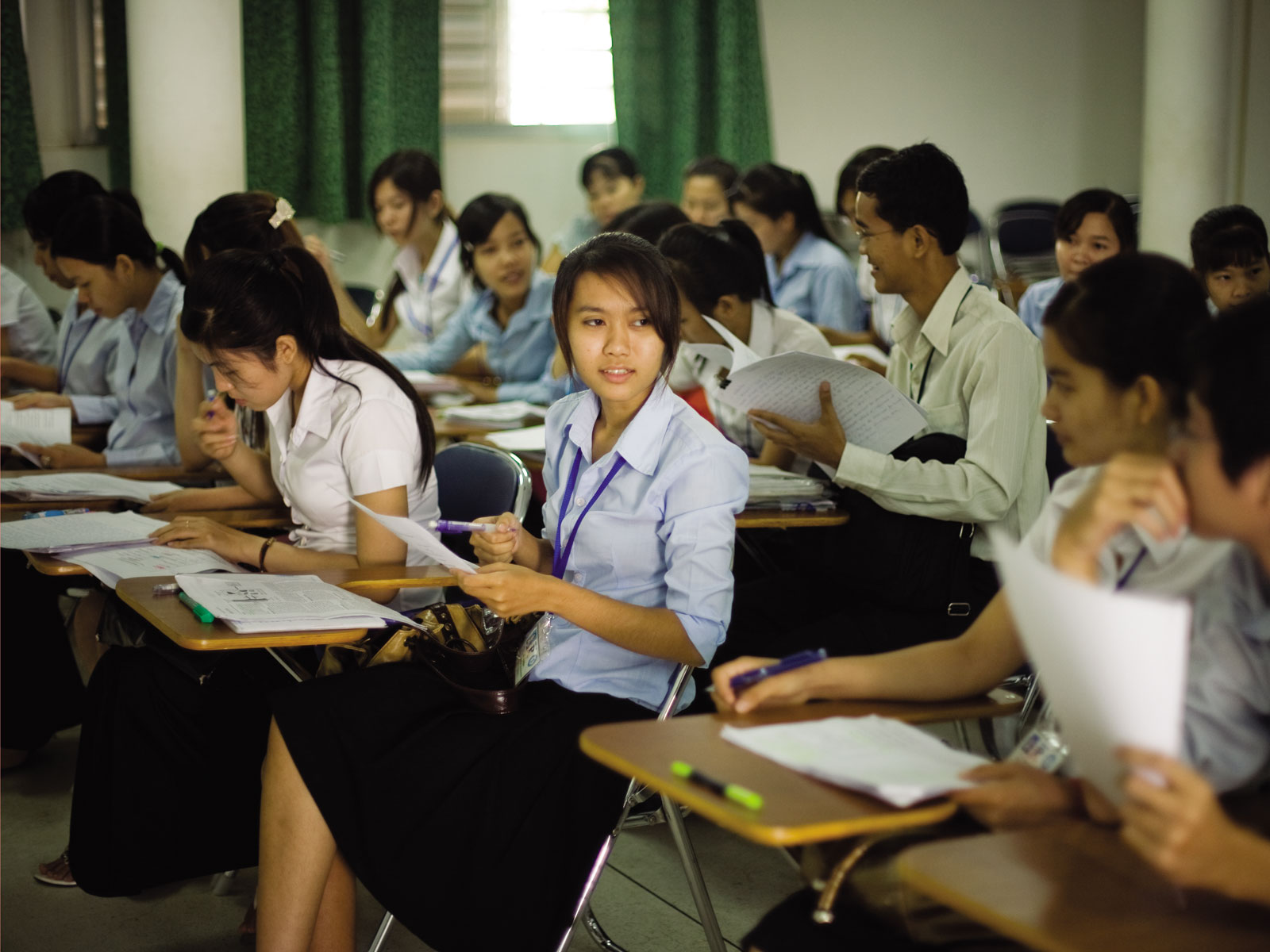 Étudiants en pharmacie de la Faculté de Phnom Penh